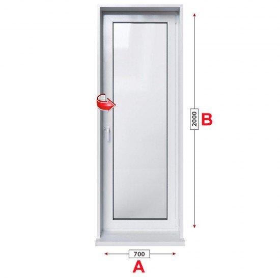 Алуминиева врата за баня Etem E 1000 студен профил