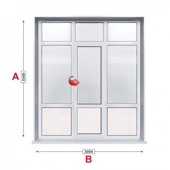 Алуминиева врата Etem E1000 - 300/330см
