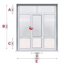 Алуминиева врата Etem - 280 / 240 см