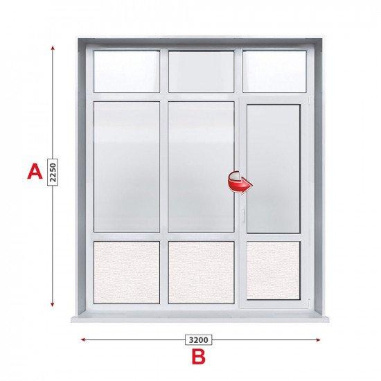 Алуминиева врата Etem E1000 - 320/225см