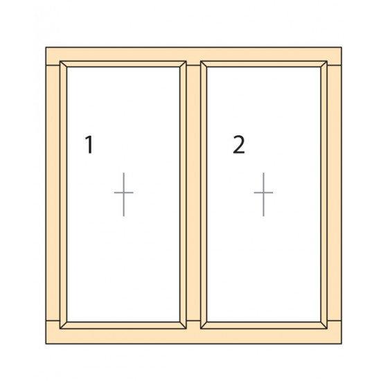 Прозорци и врати от дърво IV78-2