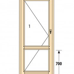 Прозорци и врати от дърво IV78-5