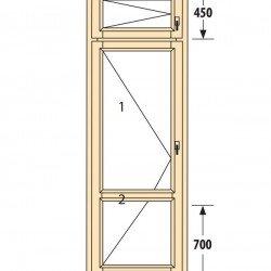 Прозорци и врати от дърво IV78-6
