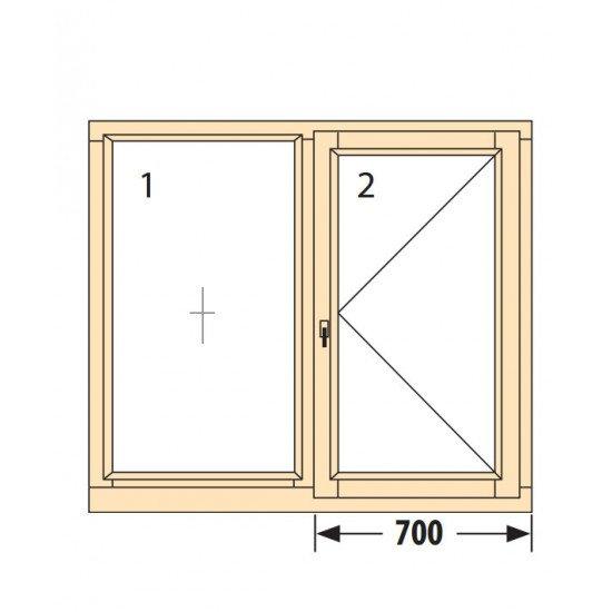 Прозорци и врати от дърво IV78-7
