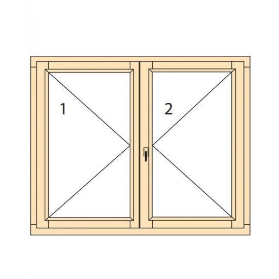 Прозорци и врати от дърво IV78-8