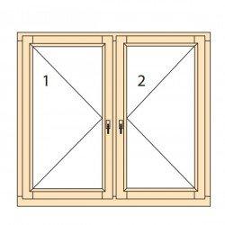 Прозорци и врати от дърво IV78-9