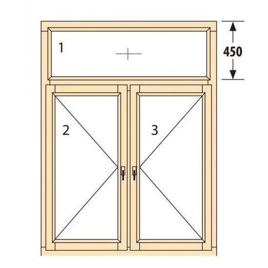Прозорци и врати от дърво IV78-11