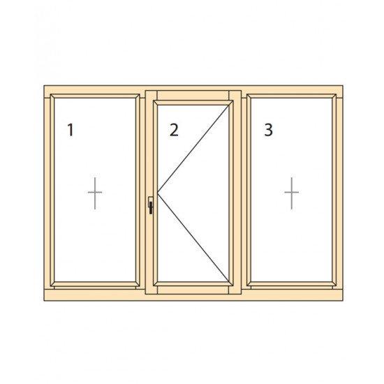 Прозорци и врати от дърво IV78-12