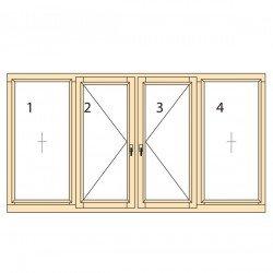 Прозорци и врати от дърво IV78-16