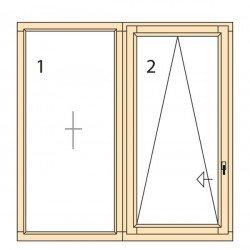 Прозорци и врати от дърво IV78-17
