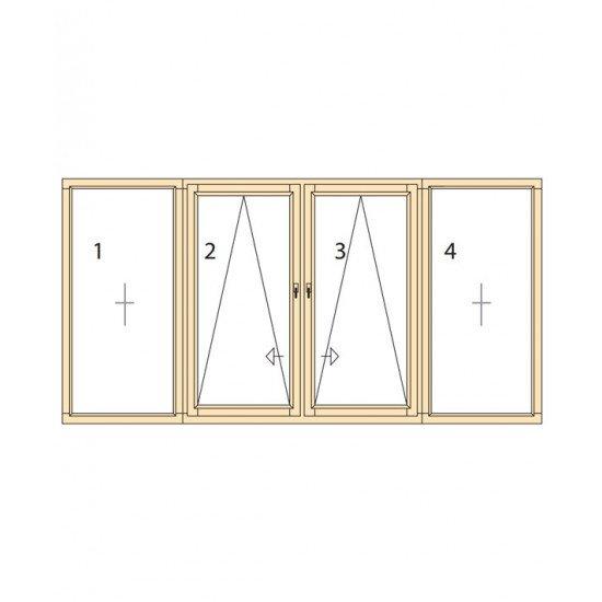 Прозорци и врати от дърво IV78-19
