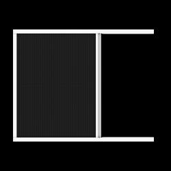 Хоризонтална ролетна мрежа против насекоми цвят бял/кафяв