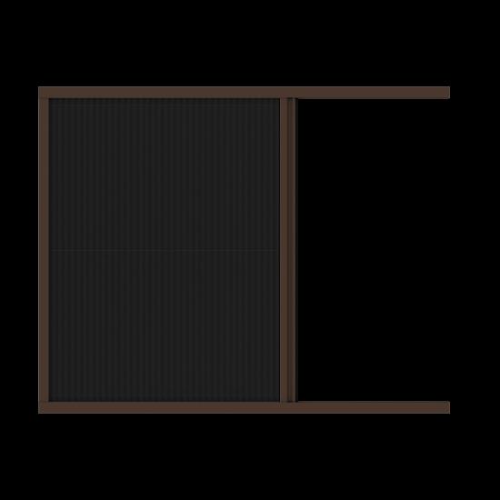 Хоризонтална ролетна мрежа против насекоми цвят Фладер/RAL
