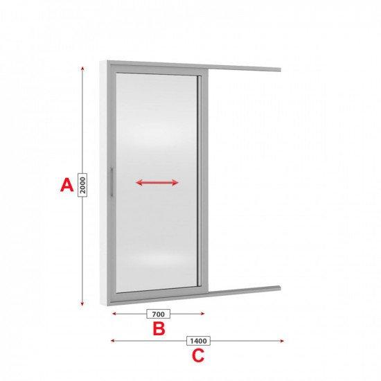 Алуминиева врата Etem E 1600 студен профил 140/200 см