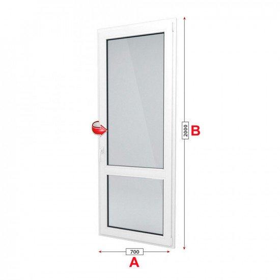 Балконска врата Trocal PRESTIGE 88+ /88 мм/ с едноосов механизъм