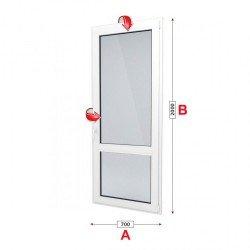 Балконска врата Trocal Economy 70 мм с двуосов механизъм
