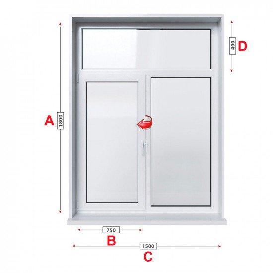 Кухненски прозорец  Trocal PRESTIGE 88+ /88 MM/ двоен с едно крило