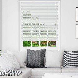 Хоризонтална щора пред стъкло BlackOut с ламели 25 мм цвят бял