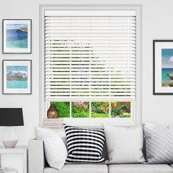Хоризонтална щора Макси BlackOut с ламели 25 мм цвят бял