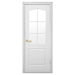 Интериорна врата със стъкло Стил Анатолия – цвят Бял