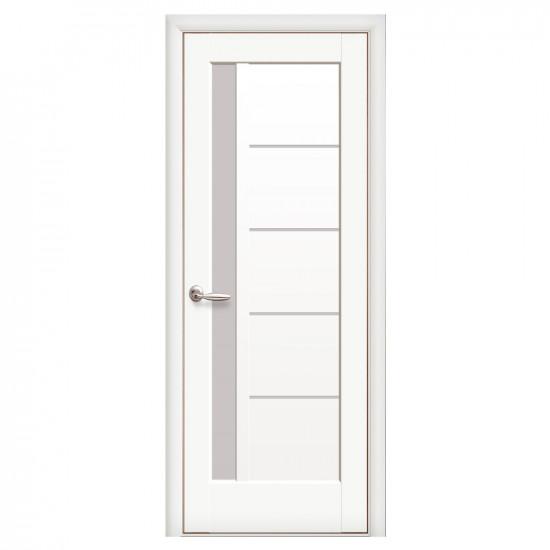 Интериорна врата със стъкло Стил Галинда – цвят Бял