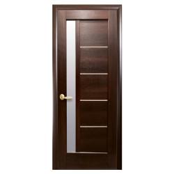 Интериорна врата със стъкло Стил Галинда – цвят Кестен