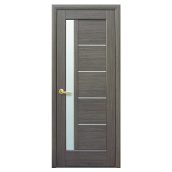 Интериорна врата със стъкло Стил Галинда – цвят Сив
