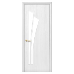Интериорна врата със стъкло Стил Лили – цвят Бял