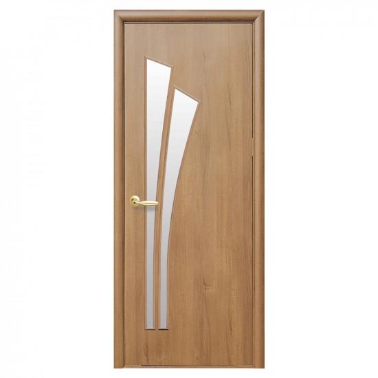 Интериорна врата със стъкло Стил Лили – цвят Златен дъб