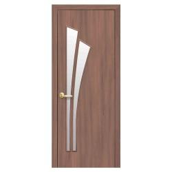 Интериорна врата със стъкло Стил Лили – цвят Златна елха