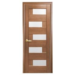 Интериорна врата със стъкло Стил Поли – цвят Златна елха