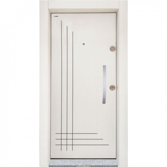 Блиндирана врата Старлайф СЛ-204 Бяла перла