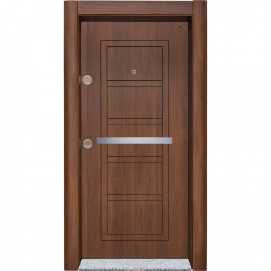 Блиндирана врата Старлайф Сл-202 Металик Орех