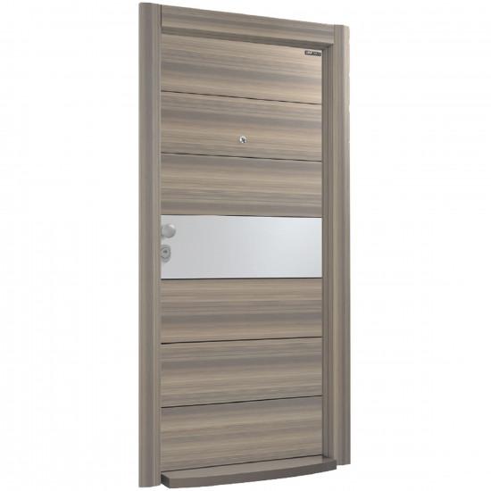 Блиндирана врата Италиански стил L 613 Mystic Walnut / Inox