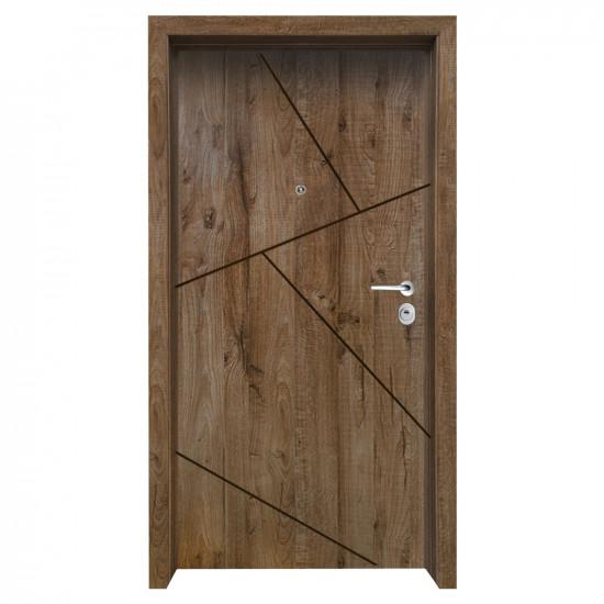 Блиндирана входна врата с фрезовка - вариант 2.3, цвят James