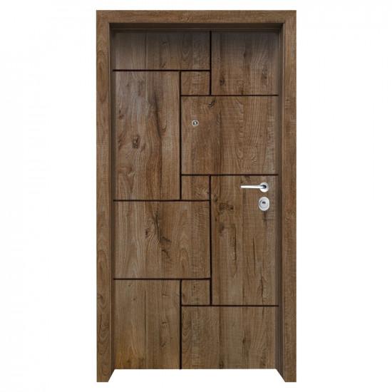Блиндирана входна врата с фрезовка - вариант 2.4, цвят James