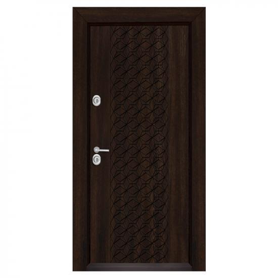 Блиндирана входна врата T-1001, цвят Венге