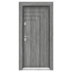 Блиндирана входна врата T-1002, цвят Сив дъб